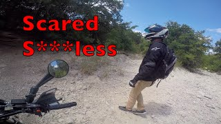 GUY GETS TERRIFIED ON MOTORCYCLE - SO FUNNY!