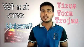 What is virus,malware ,trojan ,worms.🤖How to be safe?