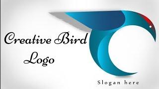 C - birds logo in Adobe Illustrator | tutorial