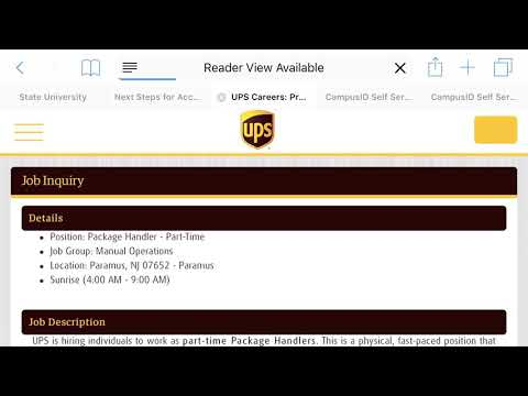 How To Apply For UPS Job/ Officially