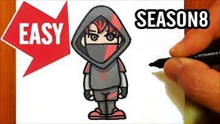 How to draw Fortnite season 8 skins【iKONIK】Easy & Cute drawing|Jolly Art NEGI