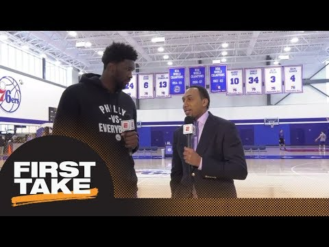 Joel Embiid joins Stephen A. Smith for exclusive 76ers' interview | First Take | ESPN
