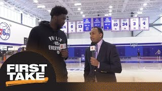 Joel Embiid joins Stephen A. Smith for exclusive 76ers
