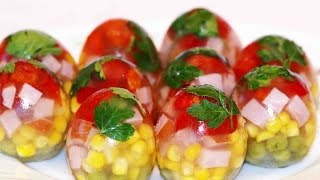 ПАСХА. Яйца к Пасхе. Заливные яйца. Заливное 'Яйца Фаберже'.