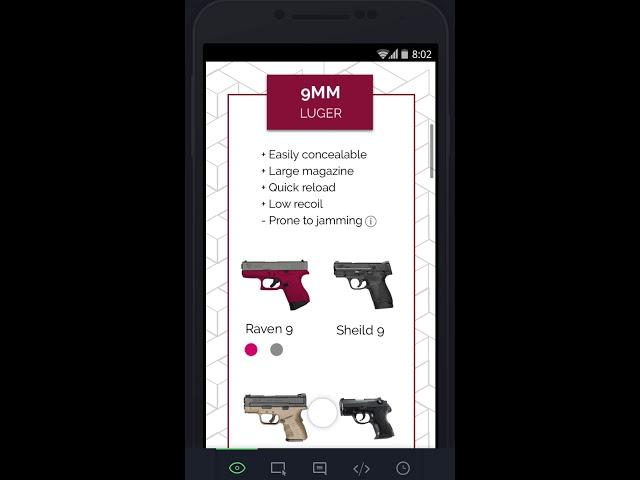 Shop firearms