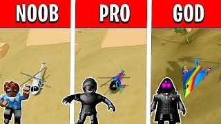 Noob vs Pro vs God in Mad City (Air Vehicles Challenge) Roblox