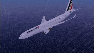 Air France Flight 447 Crashed Into The Ocean Due To Pilots Error | X-Plane 11