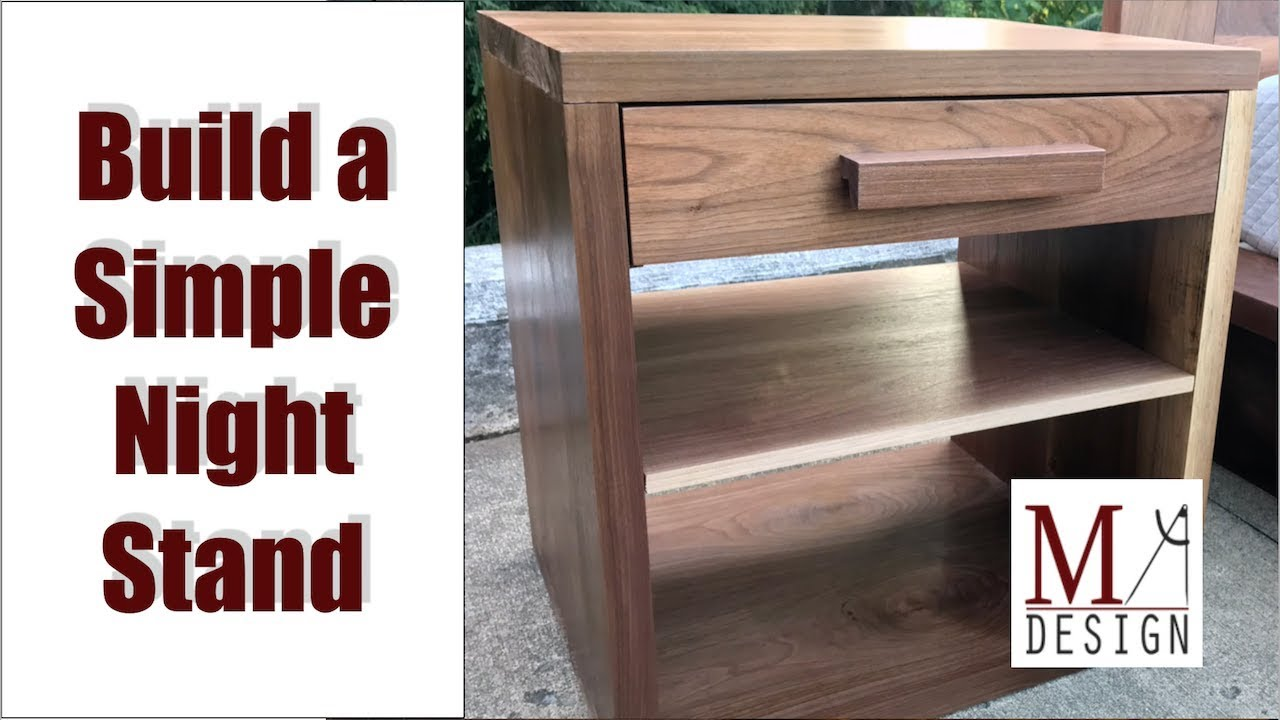 Super Simple Night Stand Woodworking How To