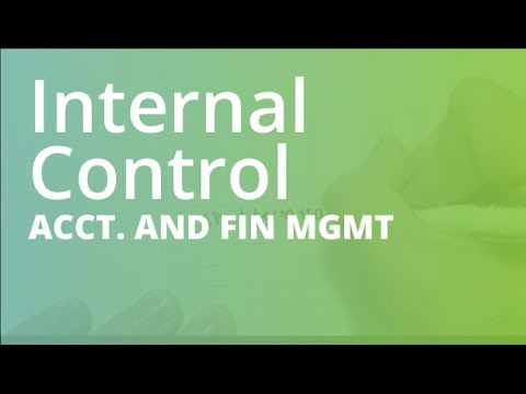 Introduction To Internal Control | Accounting And Financial Management (ACCT101)