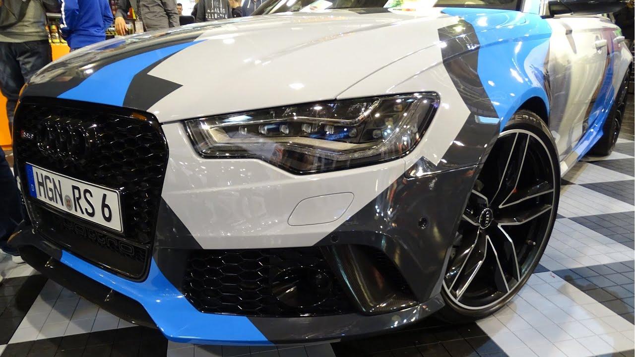 Audi Rs6 C7 Tuning Wrapped Foliert Essen Motorshow 2015