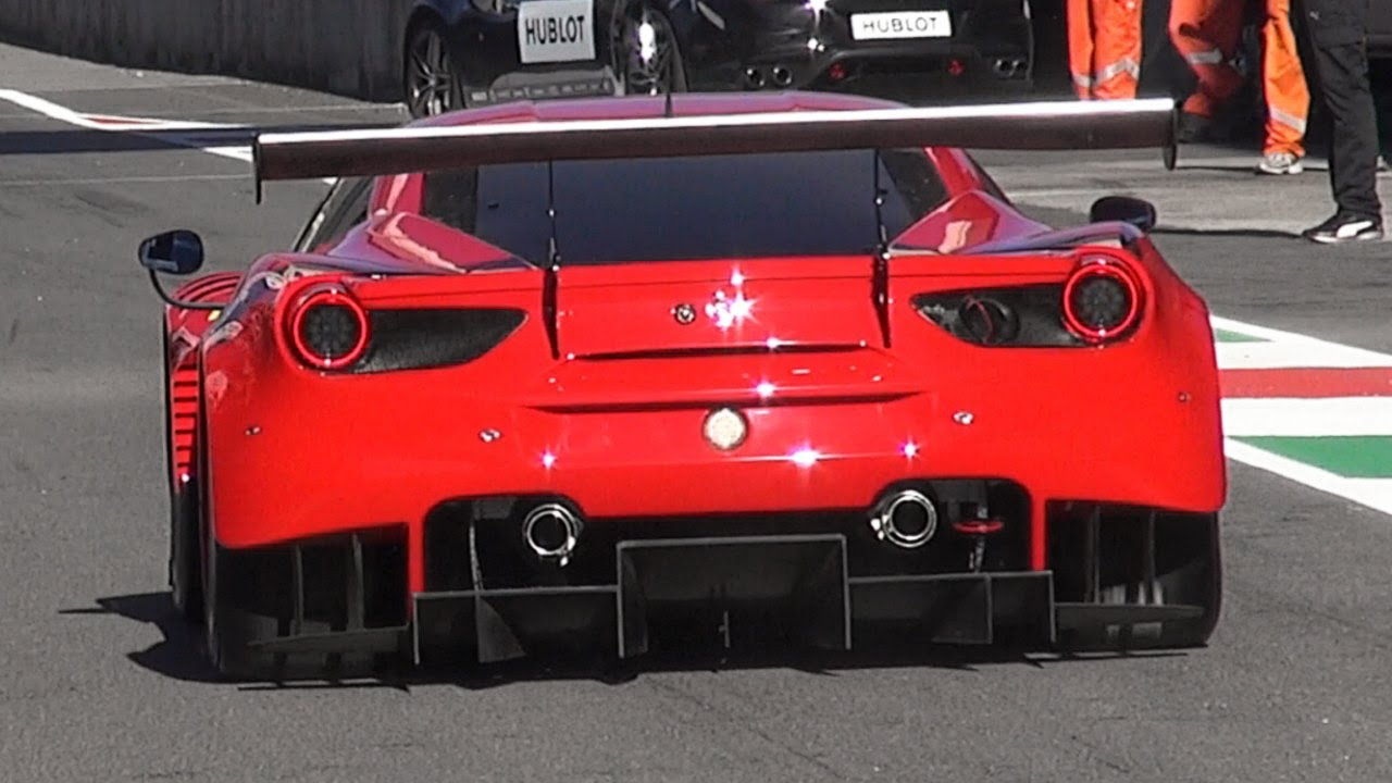 2016 ferrari 488 gt3 & gte first debut on track - finali mondiali