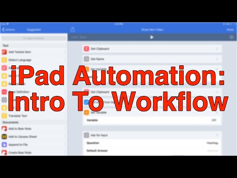 IPad Automation Part 1: Intro To Workflow App