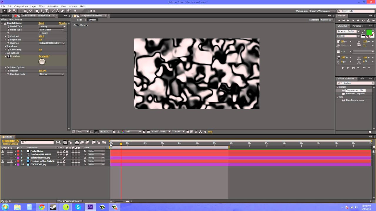 After Effects CS6 Tutorial - 154 - Displacement Map - YouTube on