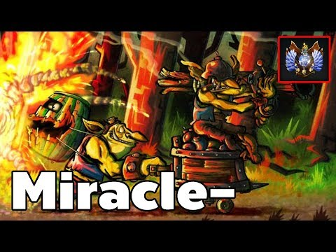 Miracle - Pro Techies Offlane Rank MMR Game