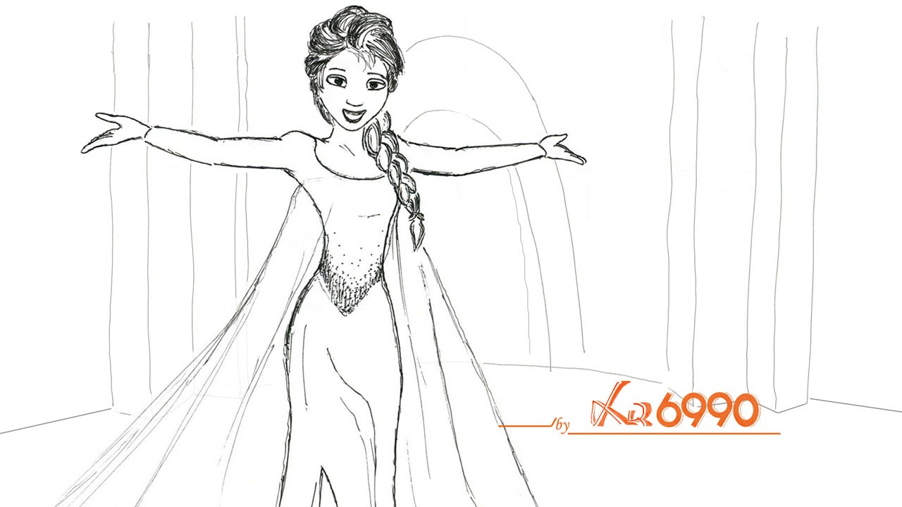 Let it go drawing animation disney frozen youtube