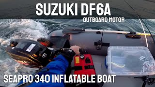 Suzuki DF6A 6 HP outboard motor & Seapro 340 inflatable boat