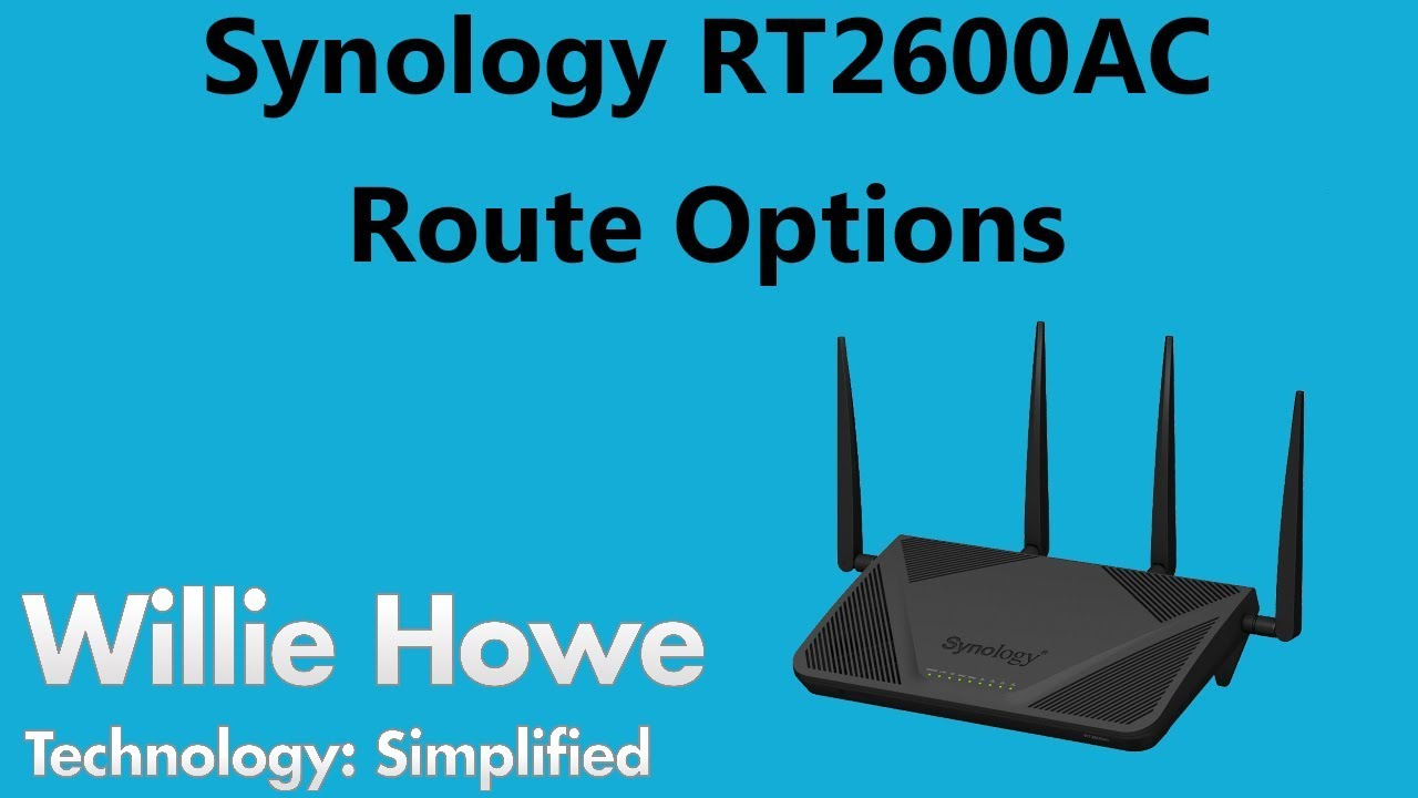 Synology RT2600AC Route Options
