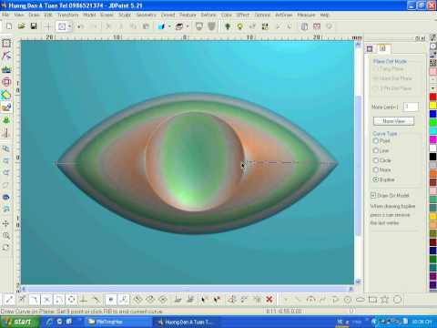 Tạo biên dạng Vecter bám theo bề mặt khối.