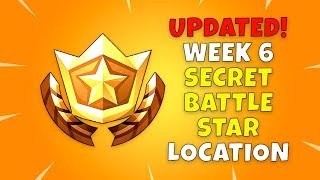 UPDATED: Fortnite Secret Battle Star Location!! - Battle Pass Season 4 Week 6