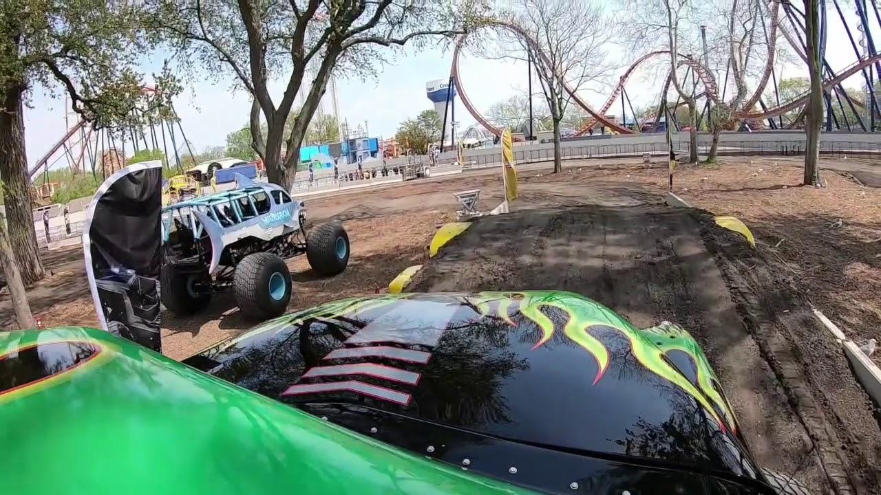 Ride aboard Cedar Point's Grave Digger monster truck