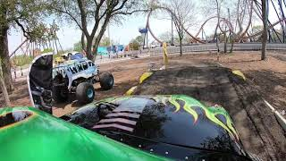 Ride aboard Cedar Point's Grave Digger monster truck