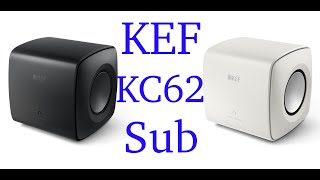 Download KEF KC62 subwoofer, easily the best compact sub I've heard
