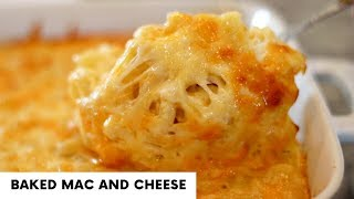 CHEESY BAKED MAC AND CHEESE | Thanksgiving Sides | Macaroni Pie