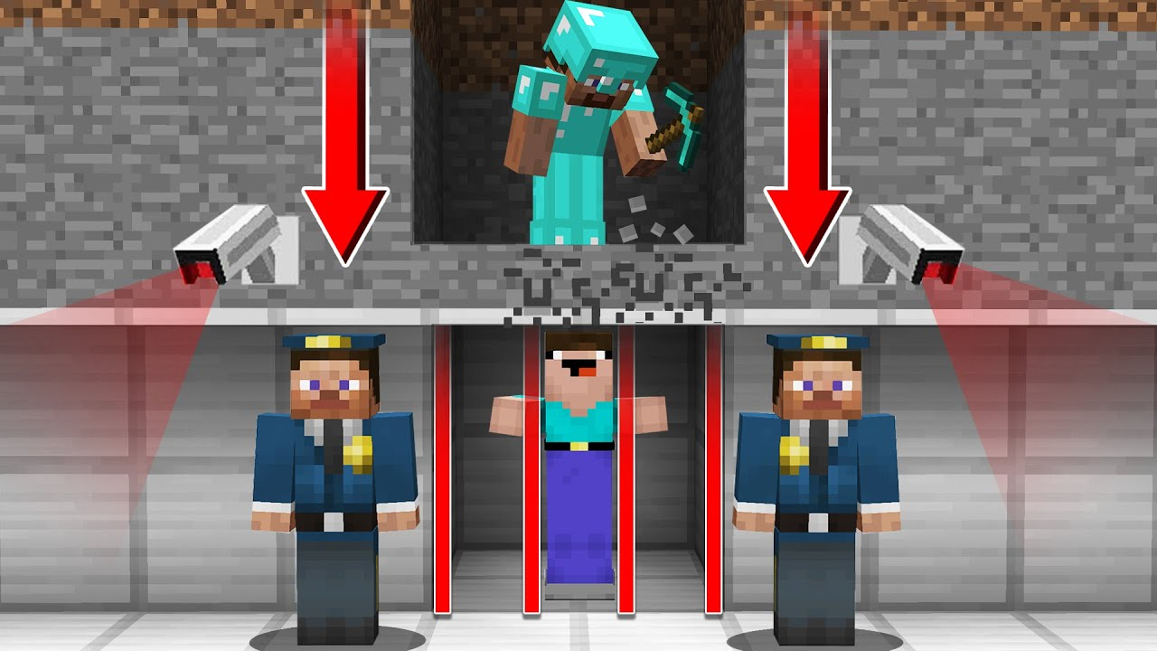 HOW CAN a PRO SAVE a NOOB from PRISON? in Minecraft Noob vs Pro