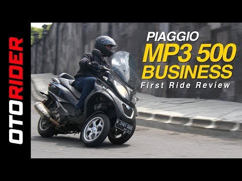 Piaggio MP3 500 Business First Ride Review Indonesia | OtoRider