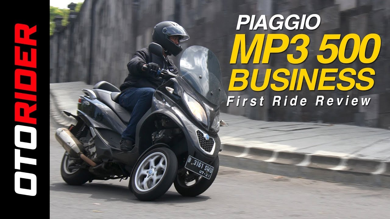 piaggio mp3 500 business first ride review indonesia otorider youtube. Black Bedroom Furniture Sets. Home Design Ideas