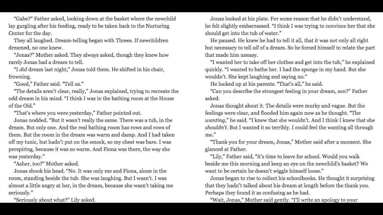 The Giver Chapter 5 - YouTube