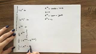 0'dan 1'e (-1)^x'in integrali