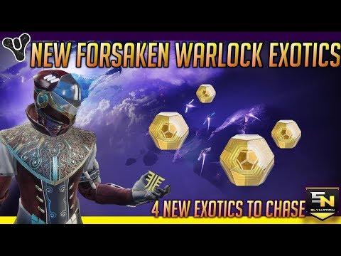 Destiny 2   All New Warlock Exotics in Forsaken!