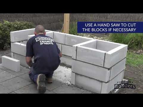 Laying Bricks for a brick BBQ