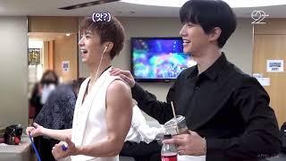 [2PM] 운동하는 장우영회원 뒤에서 훈수두는 이준호 트레이너