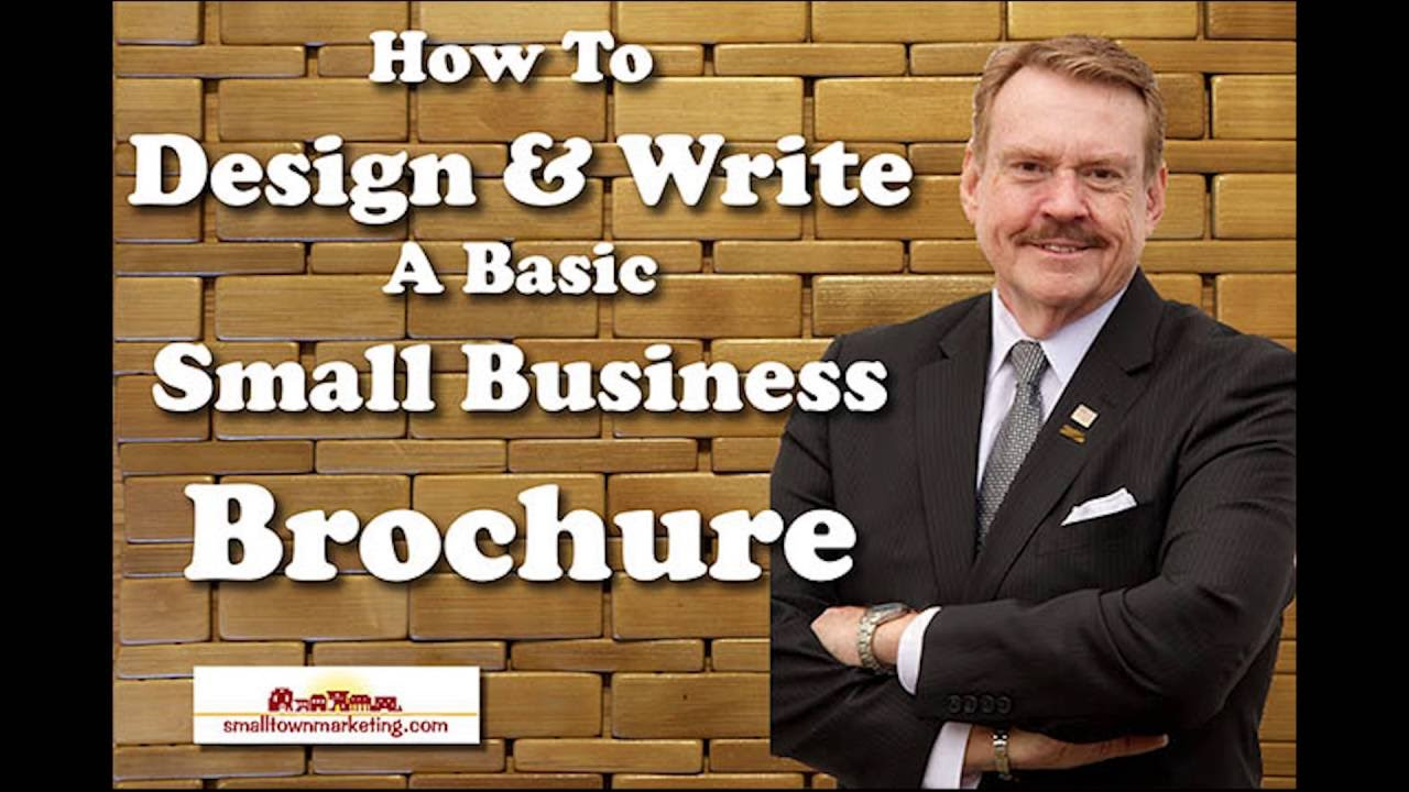 podcast how to write design a small business brochure youtube
