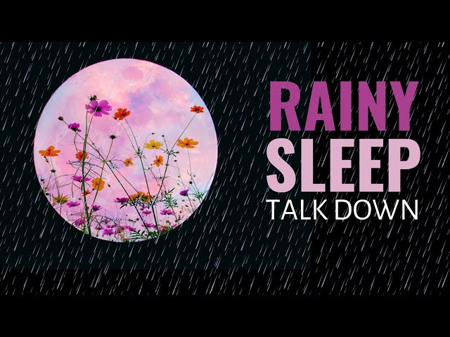 Deeply Relaxing Guided Sleep Meditation With Rain and Thunder Sounds (Female Voice Sleep Meditation)
