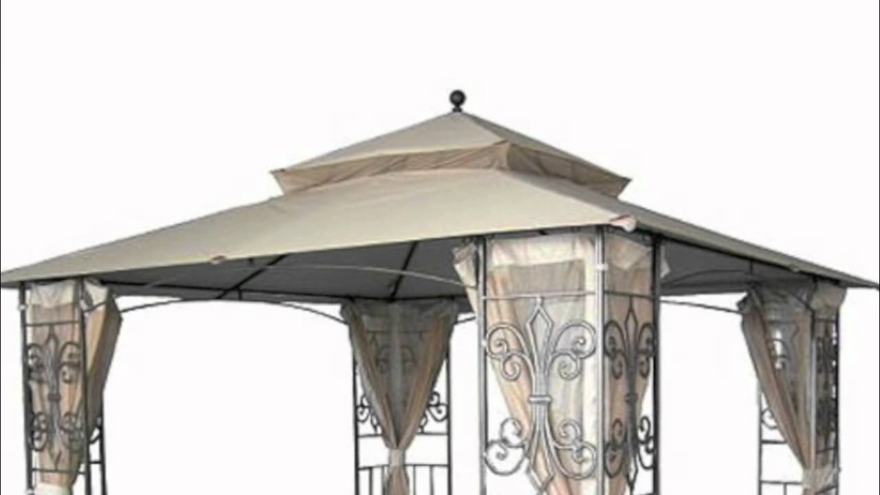 sc 1 st  YouTube & Wal-Mart Mika Ridge Gazebo Replacement Canopy - YouTube