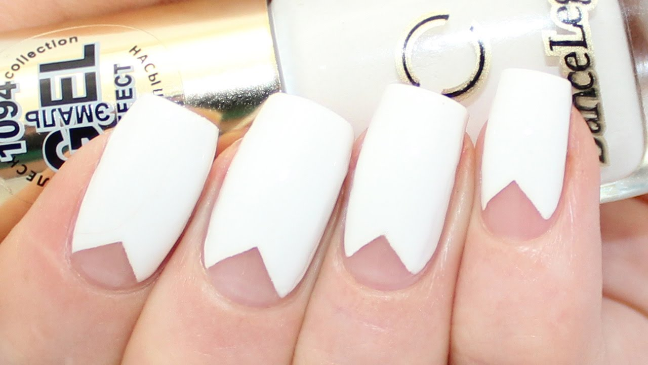 Kylie Jenner Triangle Nail Art Tutorial - YouTube