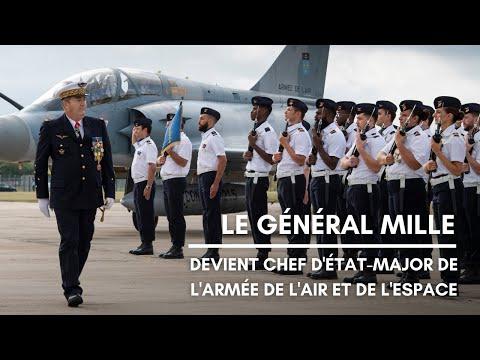 Le général Mille devient chef d'état-major de l'armée de l'Air et de l'Espace