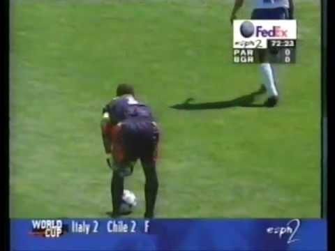 Chilavert - Free kick vs Bulgaria World Cup 98