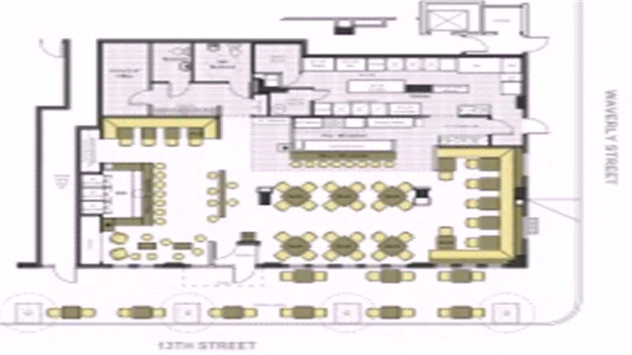 Floor plan fast food restaurant youtube Kitchen design for fast food restaurant