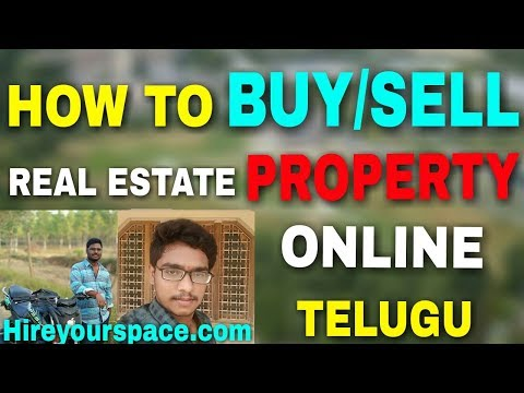 How to buy/sell property online   how to start real estate business   in telugu