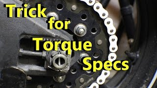 Trick for Getting Torque Specs