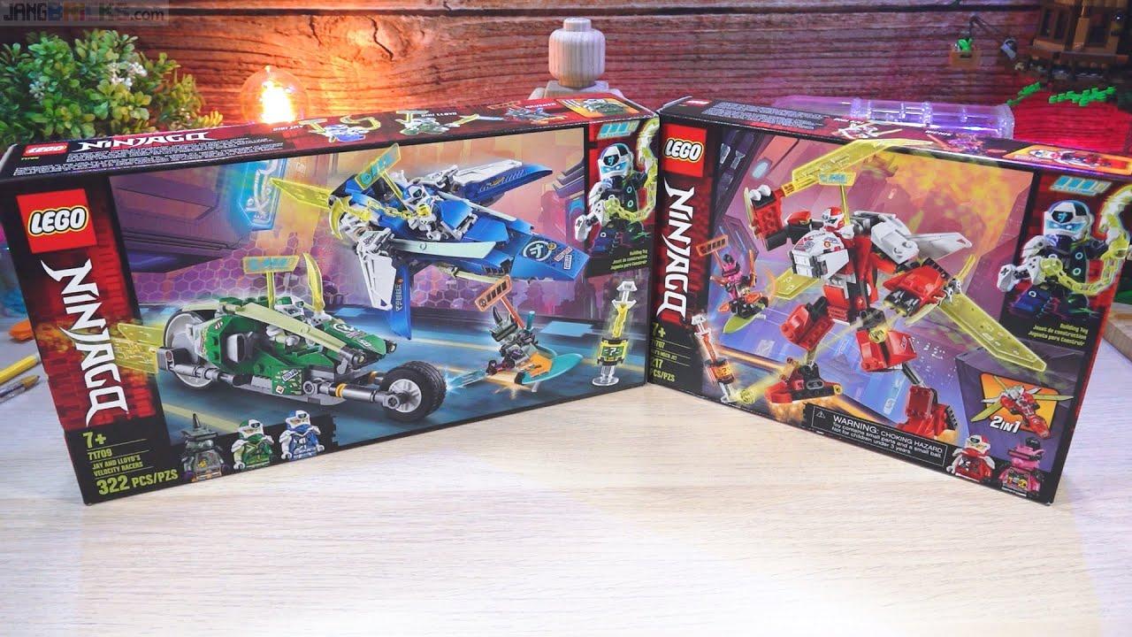 Download Pure builds: LEGO Ninjago Kai's Mech Jet, Jay & Lloyd's Velocity Racers 71707 + 71709
