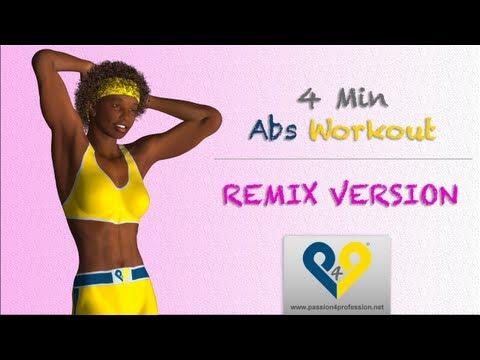 Abdominales en 4 minutos para mujeres (Versión REMIX)