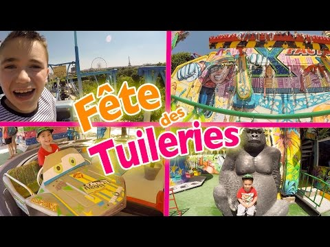 VLOG - Manèges & Attractions à la FÊTE FORAINE DES TUILERIES à Paris - 1/2