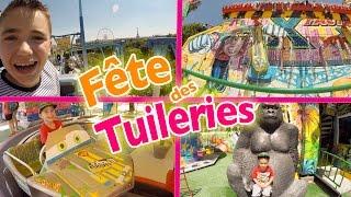 VLOG - Manèges & Attractions à la FÊTE FORAINE DES TUILERIES à Paris - 1/2