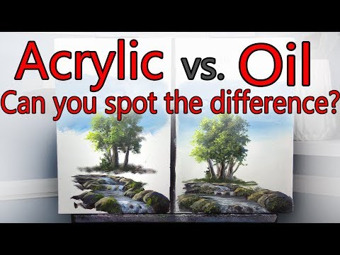 Acrylic VS Oil Side by Side EXPERIMENT