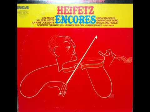 Schubert / Jascha Heifetz, October 19, 1946: Ave Maria, D. 839, Op. 52, No. 6 - Emanuel Bay, piano